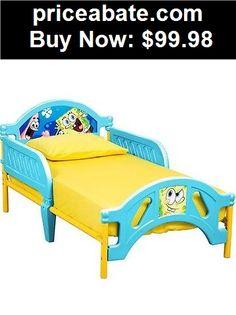 Kids-Furniture: Spounge Bob Bed Toddler Bedroom Furniture Kids Girls Boys Wood Children New  - BUY IT NOW ONLY $99.98
