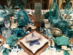 Under The Sea Beach Themed Dinner Party, might be a great idea for my son's wedding..