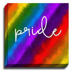 'Pride' by Rosa Vila Textual Art on Wrapped Canvas