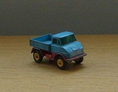 Matchbox Series By Lesney No. 49 Unimog In Turquoise Blue & Red - http://www.matchbox-lesney.com/40333