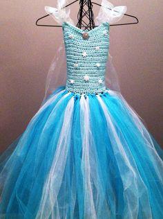 Aqua Frozen Princess Elsa Crochet tutu dress. by URtutuSpecial, $35.00