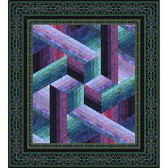 Catwalk Quilt - Wall/Plum
