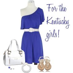 Kentucky minus the sandals either put heels or even better a pair of cowboy boots!!!