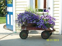 Antique Wagon Planter
