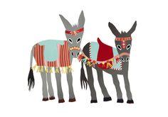 Seaside Donkeys Print