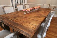 Love this huge Barnwood table