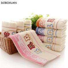 Cartoon Cloths Pattern Face Towels Lovely Chinese Style Embroidered Towel High Quality Thickening Cotton Soft Comfortable Towels