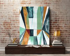 A personal favorite from my Etsy shop https://www.etsy.com/listing/536780312/original-abstract-painting-linear-block