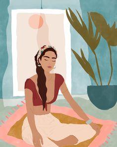 Yoga art illustration beauty 70 new ideas Art And Illustration, Tattoo Illustrations, Watercolor Illustration, Art Inspo, Kunst Inspo, Painting Inspiration, Yoga Studio Decor, Meditation Art, Yoga Art