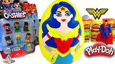 Huevo Sorpresa Gigante de La Mujer Maravilla DC Girls y Ooshies DC Comic...