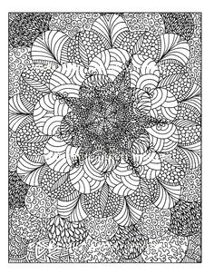 Free coloring page «coloring-anti-stress-to-print».