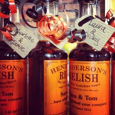 Hendos :  Personalised relish bottles for every table.  Henderson's Relish