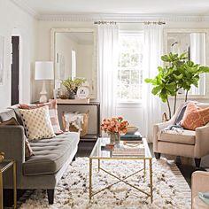 Μικρό σαλόνι και ταυτόχρονα πολυτελές; Γίνεται! How To Decorate Small  Living RoomLiving ...