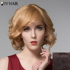 Stylish Short Side Bang Shaggy Wavy Capless Real Natural Hair Wig For Women #>=#>=#>=#>=#> Click on the pin to check out discount price, color, size, shipping, etc. Save and like it!
