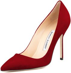 Manolo Blahnik BB Suede 105mm Pump, Ruby (Made to Order) on shopstyle.com