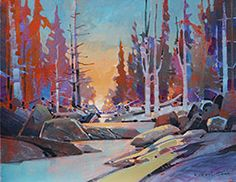 'Warm Creek Passage' available at Mayberry Fine Art -- Click to enlarge --