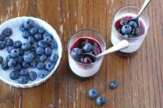 Yogurt Panna Cotta with Blueberry Sauce {Recipe} - Glorious Treats
