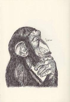 BALLPEN MONEKY 9 Ballpen, Monkeys, Illustrator, Saatchi Art, Drawings, Rompers, Monkey, Illustrators, Sketches