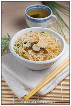 Somen (Nyumen) Miso Soup, Ready in 10 Minutes Somen Noodle Recipe, Miso Noodle Soup, Miso Soup, Vegetarian Mexican Recipes, Asian Recipes, Healthy Recipes, Ethnic Recipes, Healthy Food, Soup Recipes