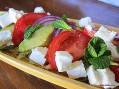 Avocado Feta Salad - I made it tonight (this is Jenn) and it was delicious!