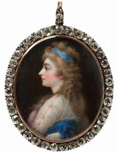 Portrait miniature of Georgiana, Duchess of Devonshire, by Horace Hone, London, 1812.