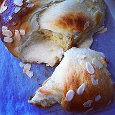 Finnish Pulla is a mildly-sweet Finnish sweet roll or dessert bread flavored with crushed cardamom seeds and occasionally raisins or sliced almonds.