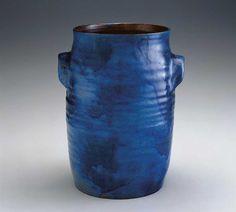 Frey Family Pottery  Freytown, Pennsylvania  1810–1846  Cobalt-glazed redware  11 in. high  American Folk Art Museum,