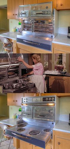 Frigidaire Flair Range from the 60s just like Samamtha Stevens' on Bewitched. Also found in my kitchen...yep, proud owner of an authentic Frigidaire Flair ❤️