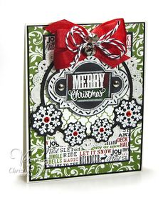 Card by Christyne Kane using Unto Us and Holiday Treats from Verve.  #vervestamps