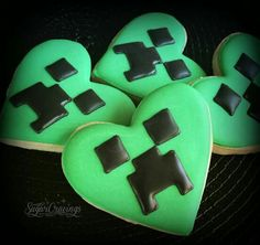 Minecraft Creepers (Heart Cookie Cutter)