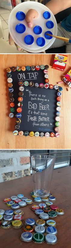 Super Easy Bottle Cap Crafts.