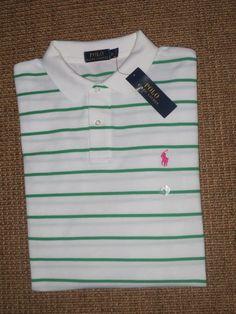 713cc410e1 Polo Ralph Lauren Men's Regular Short Sleeve Sleeve 100% Cotton Striped  Casual Shirts   eBay