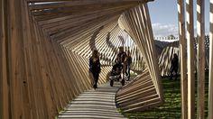 Des structures en bois qui font de la musique au rythme de vos pas | The Creators Project