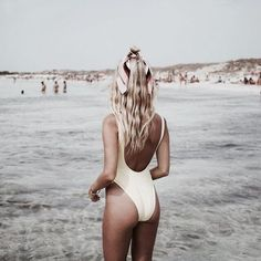 low back white one piece bathing suit for the beach instagram pictures