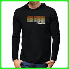Teeburon Retro Color Zadarska Zupanija Zagreb Hooded Long Sleeve T-Shirt - Retro shirts (*Amazon Partner-Link)