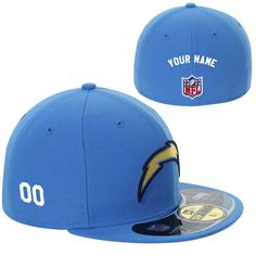sports shoes fd40a 708ea New Era Los Angeles Chargers Men s Customized On-Field 59FIFTY Football  Structured Fitted Hat. Personalized FootballSan Diego ChargersCustom HatsNfl  ShopLos ...