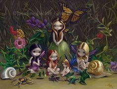 Jasmine Becket-Griffith art print SIGNED A Gathering of Faeries fairy garden pop | eBay