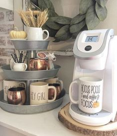 DIY coffee station / coffee bar ideas - love th. - DIY coffee station / coffee bar ideas - love th.
