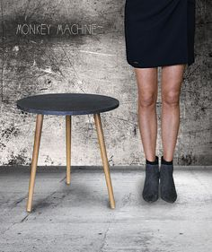 Coffe table Concrete by MonkeyMachineDesign, round table, side table, modern table, design table