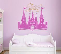 Princess Castle Personalized Custom Name Wall Decal For Nursery Or Girlu0027s  Room, Disney Castle Wall Sticker