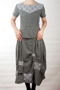 Linen dress and blouse / Oksana Solovaya
