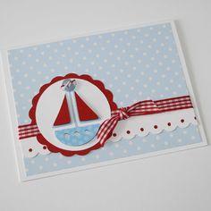 Baby Boy Shower Invitation - Sailboat invitation, boat, custom colors, set of 12. $30.00, via Etsy.