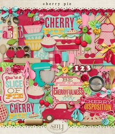 Cherry Pie Kit by Shabby Miss Jenn Designs--for Disney's Prime Time Cafe photos