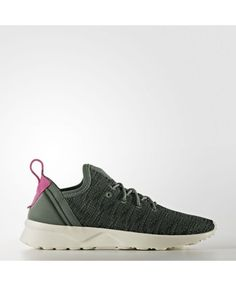 1faa0356d682b Adidas Zx Flux Womens Olive Cargo And Shock Pink Shoes Adidas Zx Flux Black