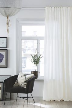 This unique blackout drapes is a really inspirational and impressive idea Blackout Drapes, Custom Drapes, Beautiful Interior Design, House Windows, Nordic Design, Drapes Curtains, Interior Decorating, New Homes, Beige