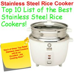 Top 10 List of the Best Stainless Steel Rice Cookers!