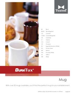 With over 60 mugs available, you'll find the perfect mug for your establishment.