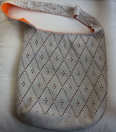 Today my obsessions: Bag diamond / diamond Crochet bag