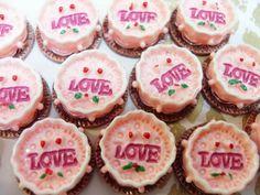 7x Cute Strawberry Cake Resin Cabochons by CuteCornwall on Etsy, £2.00