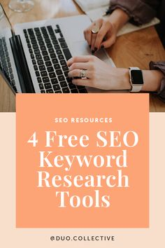 Wondering how to go about choosing the right SEO keywords for your website, course landing page, blog post, Pinterest posts, etc.? Great question! Let's dive into four completely FREE SEO keyword research tools that you can use to find relevant, long-tail keywords for your marketing content. Best Seo Tools, Free Seo Tools, How Seo Works, Onpage Seo, Ecommerce, Wordpress Plugins, Etsy Seo, Keyword Planner, Seo Marketing